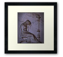 Sarcophagi sculpture another mourning lady  Framed Print