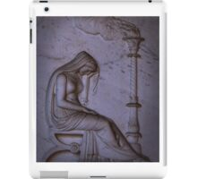 Sarcophagi sculpture another mourning lady  iPad Case/Skin