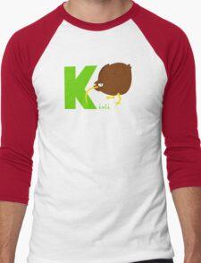 k for kiwi Men's Baseball ¾ T-Shirt