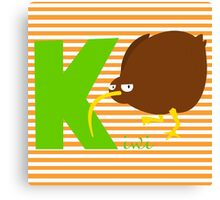 k for kiwi Canvas Print