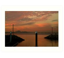 Sunset Limeberners Point,Geelong Art Print
