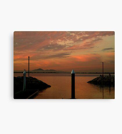 Sunset Limeberners Point,Geelong Canvas Print