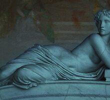 Goddess of Books in Pisa, Italy  by Sunil Bhardwaj