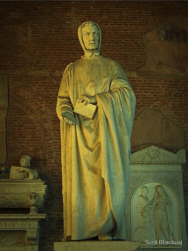 Monument of Leonardo da Pisa (Fibonacci), by Giovanni Paganucci, completed in 1863, in the Camposanto di Pisa  by Sunil Bhardwaj