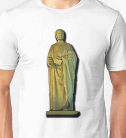 Monument of Leonardo da Pisa (Fibonacci), by Giovanni Paganucci, completed in 1863, in the Camposanto di Pisa  Unisex T-Shirt