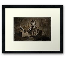 Librarian woman Framed Print