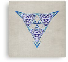 Geometric Sea Breeze Canvas Print