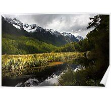 Mirror Lakes, Fiordland Poster
