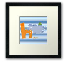 h for hippo Framed Print