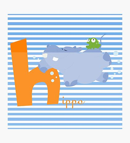 h for hippo Photographic Print