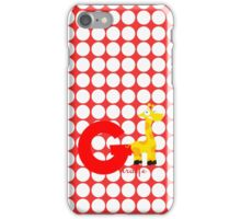 g for giraffe iPhone Case/Skin