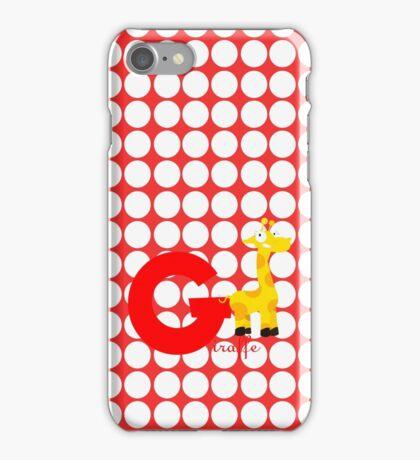 g for giraffe iPhone Case/Skin