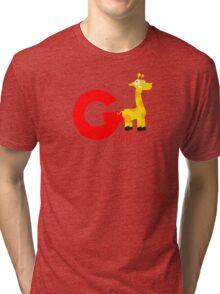 g for giraffe Tri-blend T-Shirt