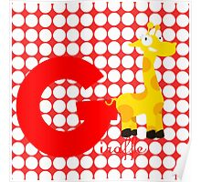 g for giraffe Poster