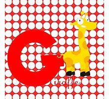 g for giraffe Photographic Print