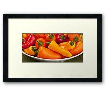 Pepper Panorama Framed Print