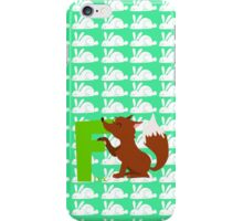 f for fox iPhone Case/Skin