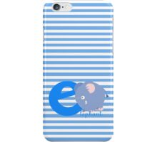 e for elephant iPhone Case/Skin