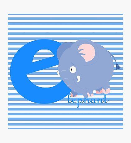 e for elephant Photographic Print