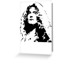 Led Zeppelin Robert Plant Greeting Card