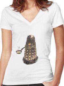 Eg..egg...s...? The Broken Dalek Women's Fitted V-Neck T-Shirt