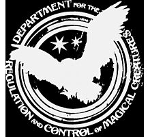 Department for the Regulation and Control of Magical Creatures Crest - White Photographic Print