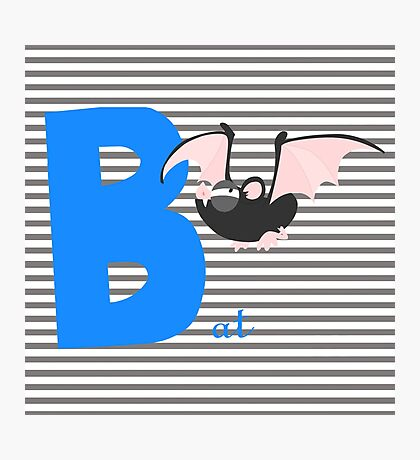 b for bat Photographic Print