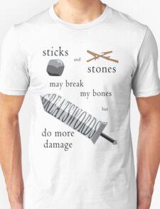 Greatswords Do More Damage-Dark on Light T-Shirt