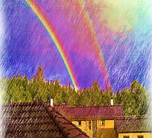 House and rainbow by ZierNor