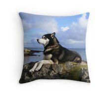 Coastline Canine Throw Pillow