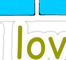 i love jugs Sticker
