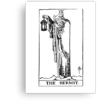 Black and White Hermit Metal Print