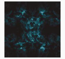 Triangle Geometric Turquoise Smoky Space Kids Tee