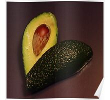 Avocado heart Poster