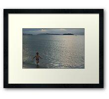 Children Free at Sea Framed Print