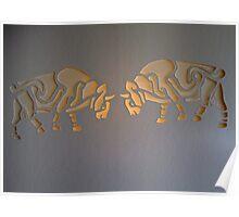 Celtic bulls Poster
