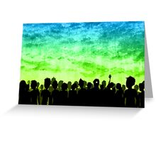 Nuclear Sunset Horde Greeting Card