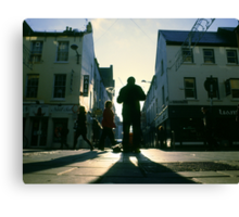 fiddler on marlboro street Canvas Print