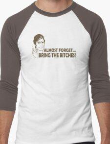 Bring Bitches Funny TShirt Epic T-shirt Humor Tees Cool Tee Men's Baseball ¾ T-Shirt