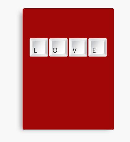 love keys Canvas Print