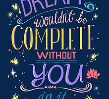 Disney Princess and the Frog Typography Quote by ploveprints