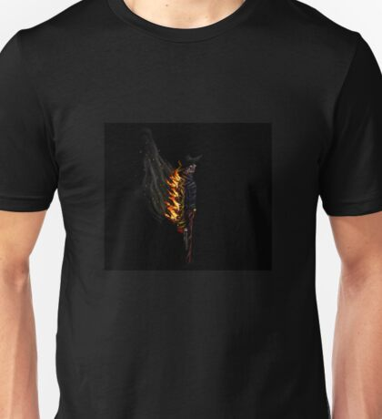 Flaming Zombie Gunslinger Unisex T-Shirt