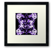 Electrifying purple sparkly triangle flames Framed Print