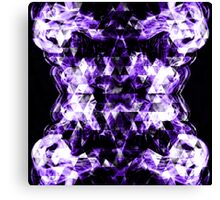Electrifying purple sparkly triangle flames Canvas Print
