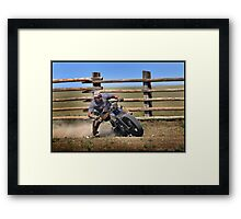 KnuckleHead Rodeo Framed Print