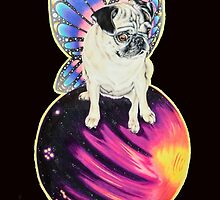 Puggerfly In Space by SaraMachenArt