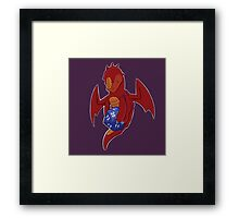 D20 Red Dragon Framed Print