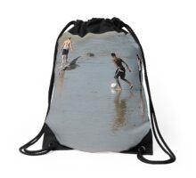 Sand Soccer Drawstring Bag