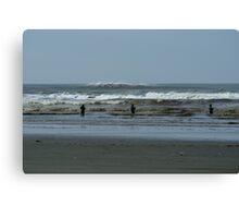 Roosevelt Beach, Washington Fishermen Canvas Print