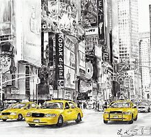 Three Yellow Taxi's by L K Southward
